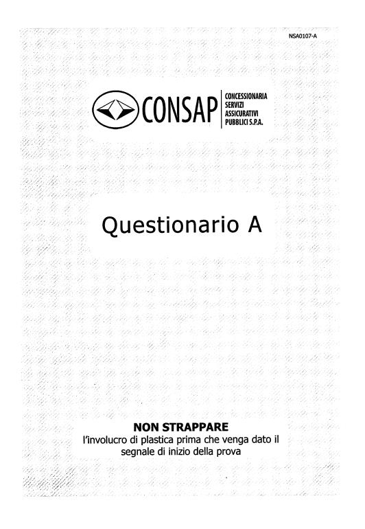 Questionario CONSAP