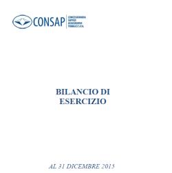 Bilancio Consap